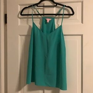 Lilly Pulitzer Aqua Silk Dusk Top